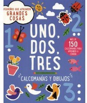 UNO, DOS, TRES -CALCOMANIAS Y DIBUJOS-