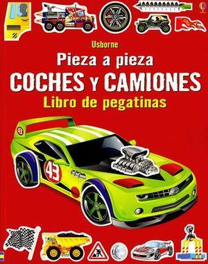 LIBRO DE PEGATINAS -COCHES Y CAMIONES- PIEZA A PIEZA