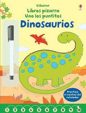 LIBROS PIZARRA -UNO LOS PUNTITOS/DINOSAURIOS- (C/MARCADOR)