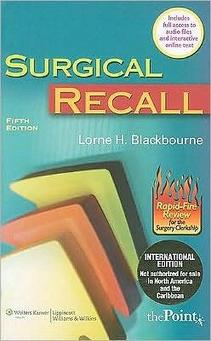 SURGICAL RECALL 5ED. IE