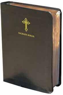 BIBLIA CATÓLICA EN ESPAÑOL. SÍMIL PIEL NEGRO, TAMAÑO COMPACTO