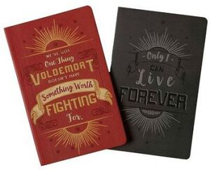 HARRY POTTER AND VOLDEMORT SET 2 CHARACTER NOTEBOOK COL