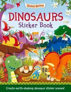 DINOSAURS -STICKER BOOK-
