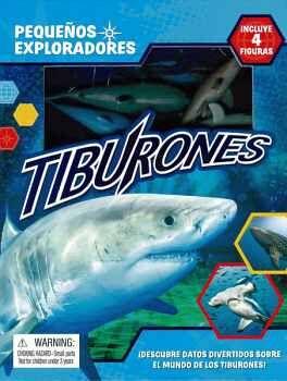 PEQUEÑOS EXPLORADORES -TIBURONES- (C/LIBRO Y 4 FIGURAS)