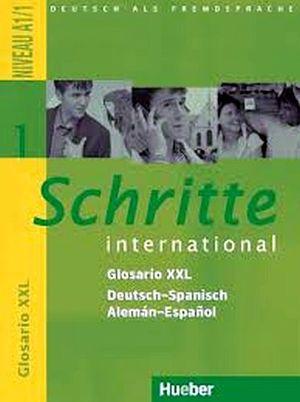 SCHRITTE INTERNATIONAL 1 GLOSARIO XXL DEUTSCH-SPANISCH