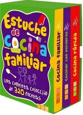 ESTUCHE DE COCINA FAMILIAR  (C/3 LIBROS FAMILIAR/VERDURAS/RAPIDA)