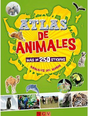 ATLAS DE ANIMALES   (C/MAS DE 250 STICKERS)