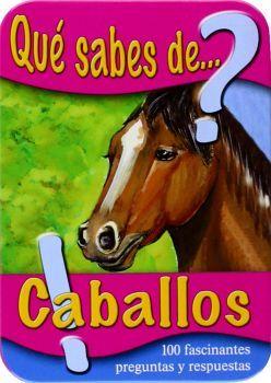 QUE SABES DE CABALLOS?  (CAJA METALICA/50 CARTAS C/100 PREGUNTAS)