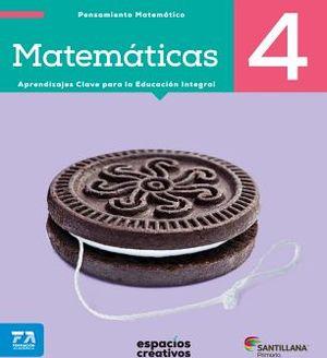 MATEMATICAS 4 PRIM. -ESPACIOS CREATIVOS- (ED.2018)