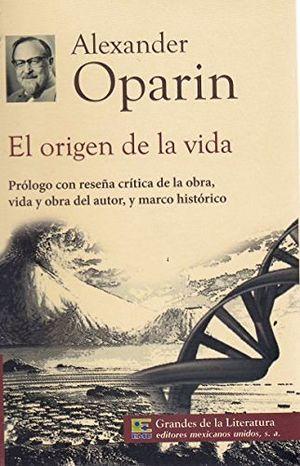 ORIGEN DE LA VIDA, EL (1/2 CARTA/GDES. DE LA LIT.) NVA PRESENTACI