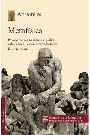 METAFISICA (1/2 CARTA/GDES. DE LA LIT.)