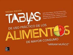 TABLAS DE USO PRACTICO DE LOS ALIMENTOS DE MAYOR CONSUMO 3ED.