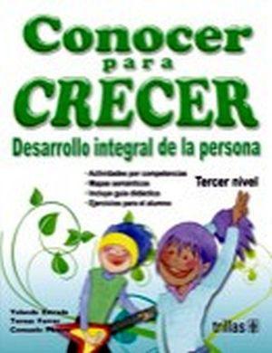 CONOCER PARA CRECER 3ER. NIVEL (PREESC.)