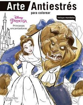 DISNEY PRINCESAS ENCANTADORAS (COL. ARTE ANTIESTRES P/COLOREAR)