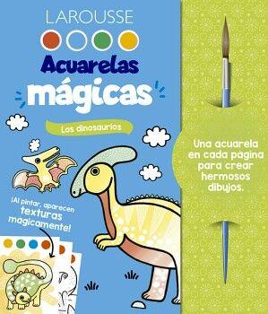 ACUARELAS MAGICAS -LOS DINOSAURIOS- (C/PINCEL)