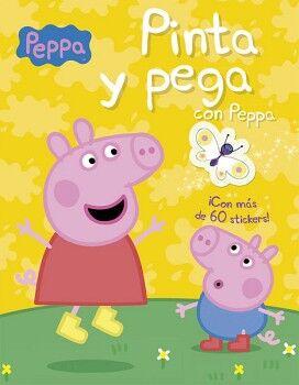 PINTA Y PEGA CON PEPPA   (C/STICKERS)