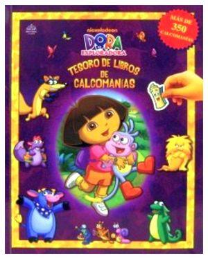 TESORO DE LIBROS DE CALCOMANIAS -DORA LA EXPLORADORA-