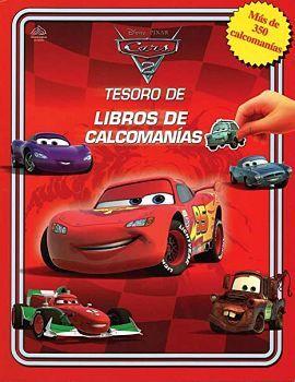 TESORO DE LIBROS DE CALCOMANIAS -CARS 2- DISNEY PIXAR