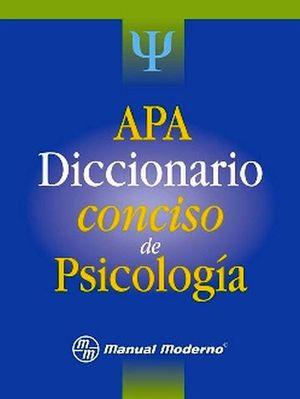 APA DICCIONARIO CONCISO DE PSICOLOGIA