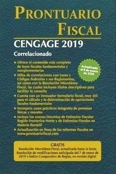 PRONTUARIO FISCAL CENGAGE 2019 CORRELACIONADO -ECONOMICO-