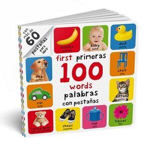 FIRST PRIMERAS 100 WORDS PALABRAS CON PESTAÑAS