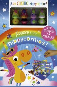CONOCE A LOS HIPPYCORNIOS (C/ESCENARIOS Y 4 PERSONAJES)