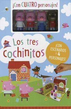 PLAY HOUSE -LOS TRES COCHINITOS- (C/ESCENARIOS Y 4 PERSONAJES)