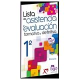 LISTA DE ASISTENCIA Y EVALUACION FORMATIVA Y DEFINITIVA 1RO.