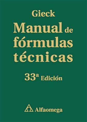 MANUAL DE FORMULAS TECNICAS 33ED.