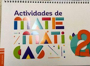 ACTIVIDADES DE MATEMATICAS 2DO. PREESC.