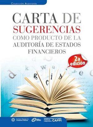 CARTA DE SUGERENCIAS COMO PRODUCTO DE LA AUDIT.EDOS.FIN.2ED.