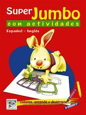 SUPER JUMBO CON ACTIVIDADES (ESPAÑOL-INGLES/ROJO)