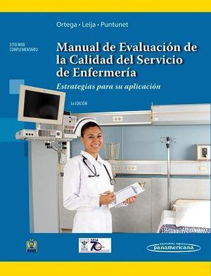 MANUAL DE EVALUACION DE LA CALIDAD DEL SERV. DE ENFERMERIA 3ED.