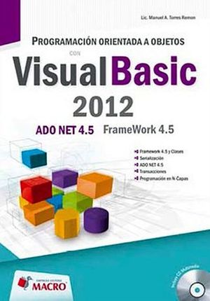 PROGRAMACION ORIENTADA A OBJETOS CON VISUAL BASIC 2012 C/CD