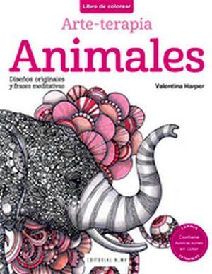 LIBRO DE COLOREAR -ANIMALES- (ARTE-TERAPIA)