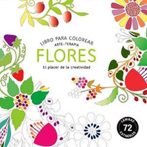 LIBRO DE COLOREAR -FLORES- (ARTE-TERAPIA)