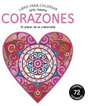 LIBRO PARA COLOREAR -CORAZONES- (ARTE-TERAPIA)