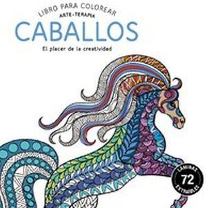 LIBRO PARA COLOREAR -CABALLOS- (ARTE-TERAPIA)