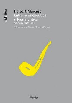 ENTRE HERMENEUTICA Y TEORIA CRITICA (ARTICULOS 1929-1931)