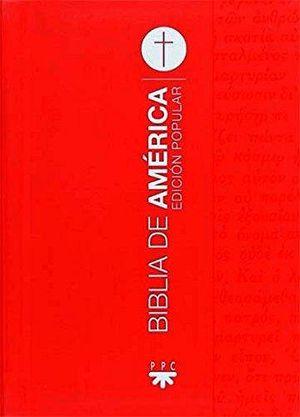 BIBLIA DE AMERICA (LETRA GRANDE) -ROJA RUSTICA-