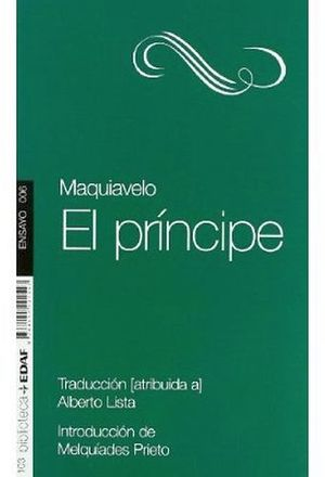 PRINCIPE, EL  (BIBLIOTECA EDAF/TEATRO)