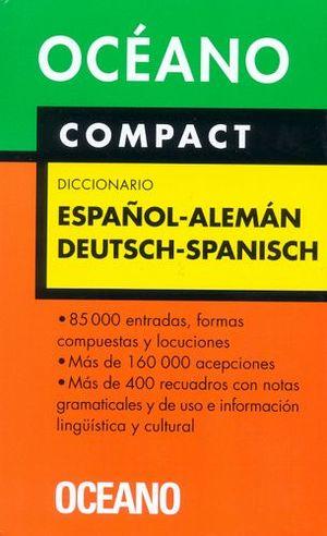 DICCIONARIO COMPACT ESPAÑOL-ALEMAN Y V.V.