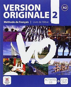 VERSION ORIGINALE 2 A2 LIBRO DEL ALUMNO+CD+DVD