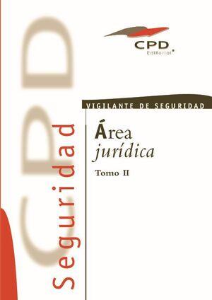 VIGILANTE DE SEGURIDAD ÁREA JURÍDICA TOMO II VS-01