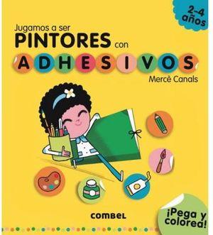 JUGAMOS A SER PINTORES CON ADHESIVOS (2-4 AÑOS/PEGA Y COLOREA)