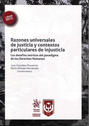 RAZONES UNIVERSALES DE JUSTICIA Y CONTEXTOS PART. DE INJ.(C/EBOOK