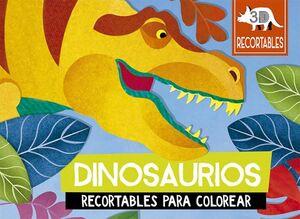 DINOSAURIOS -RECORTABLES PARA COLOREAR 3D-