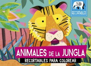 ANIMALES DE LA JUNGLA -RECORTABLES PARA COLOREAR 3D-