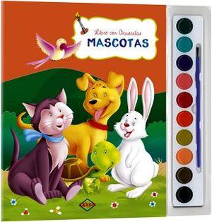 MASCOTAS  -LIBRO CON ACUARELAS-           (C/ACUARELAS Y PINCEL)