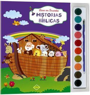 HISTORIAS BIBLICAS -LIBRO CON ACURELAS-    (C/ACUARELAS Y PINCEL)